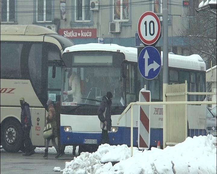 Autobusi kruševačkog Jugoprevoza saobraćaju bez većih odstupanja (osim na liniji Kruševac – Niš preko Đunisa)