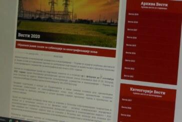 Javni poziv za korišćenje podsticajnih sredstava za elektrifikaciju polja