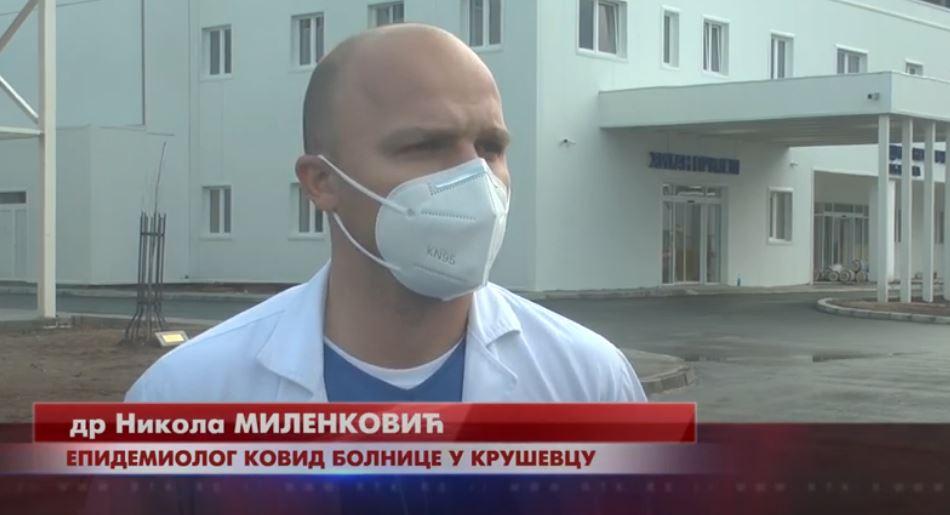 U Kovid bolnici u Kruševcu trenutno na lečenju 54 pacijenta – 12 u jedinici intenzivne nege