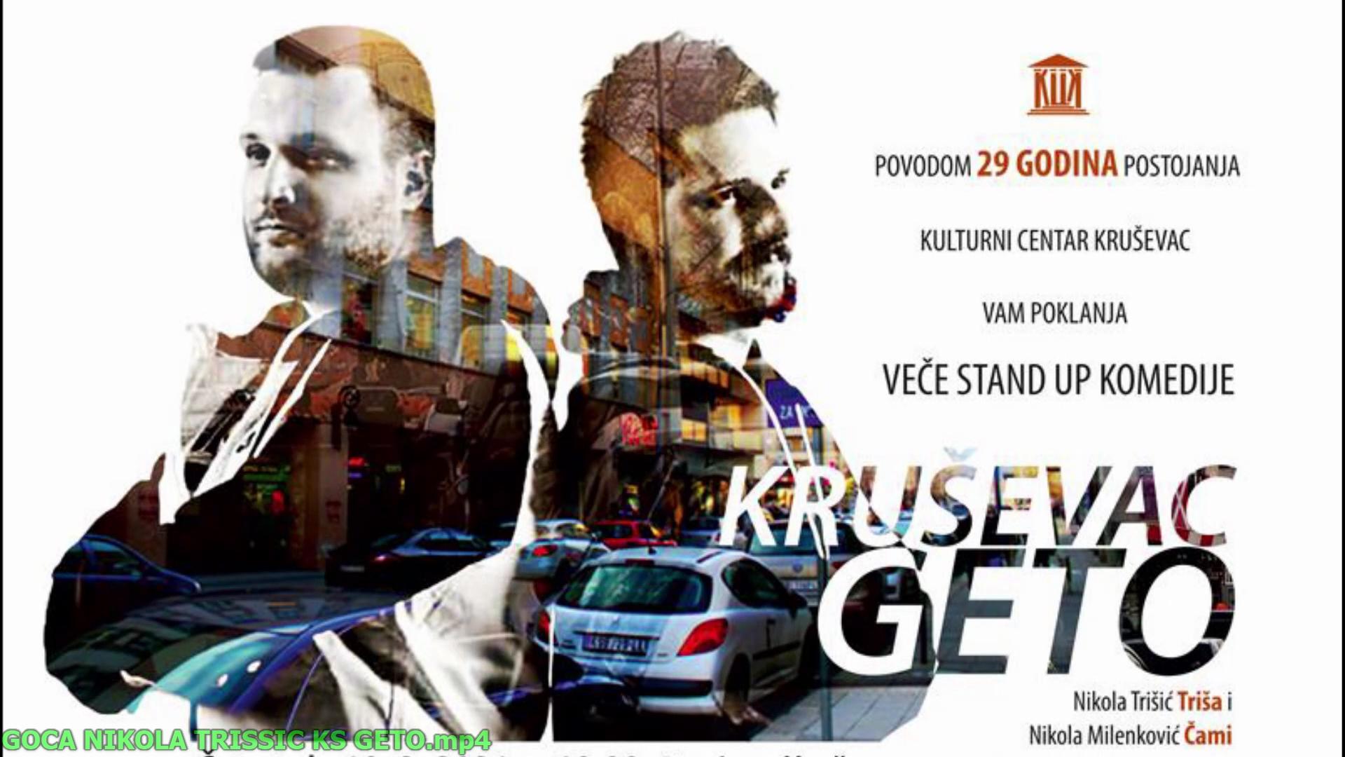"U bisokopu ""Kruševac"" večeras stand up nastup ""Kruševac Geta"""