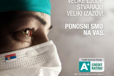 Crédit Agricole banka i dalje uz medicinske radnike – posebno povoljnim ponudama keš kredita