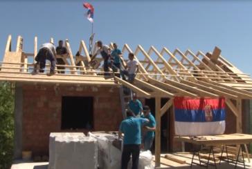Za manje od mesec dana iznikao nov objekat, pomoć porodici Đidić iz Milentije