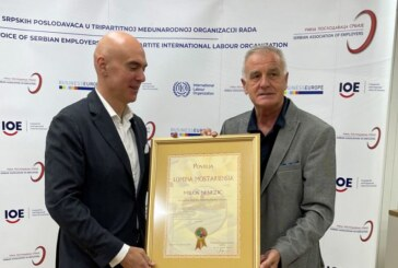 Predsednik Unije poslodavaca Srbije – direktor Trajal korporacije Miloš Nenezić, dobitnik Mostarske povelje