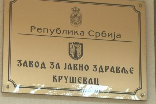 U Rasinskom okrugu prema poslednjim podacima još 93 osobe zaražene koronavirusom – 66 u Kruševcu, 14 u Brusu