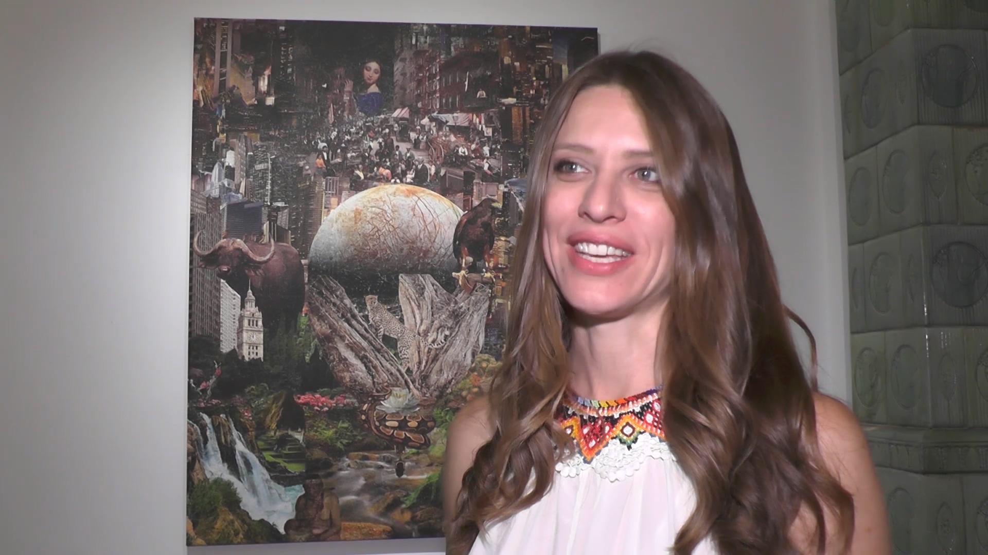 """U Umetničkoj galeriji otvorena izložba slika """"Rađanje nove svesti"""" autorke Biljane Mišić"""