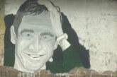 Mural sa likom Marka Živića na uglu ulica Cara Lazara i Vojislava Ilića
